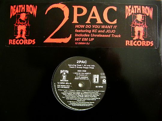 maxi 45 tours promo Collector de 2pac - How do you want it