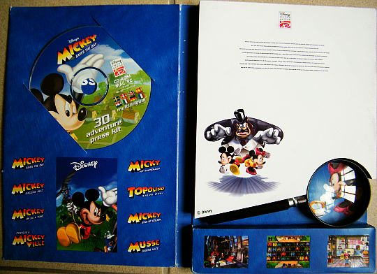 electronic press kit Collector Disney Interactive - Top secret ouvert