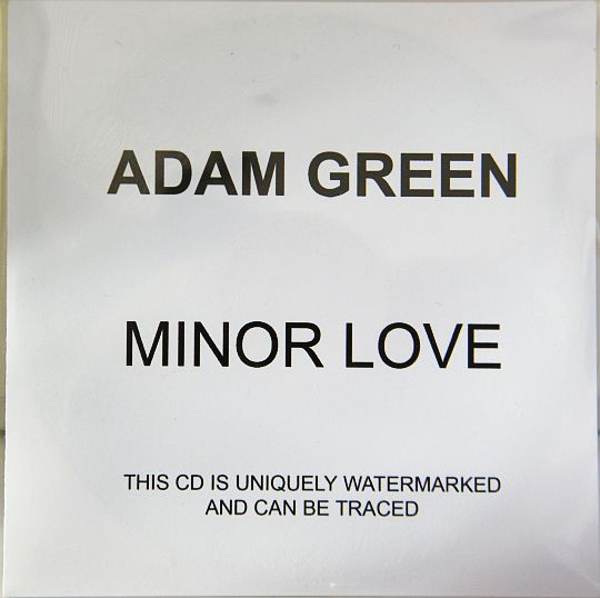pochette recto du cd sampler promo advance collector d'Adam Green - Minor love