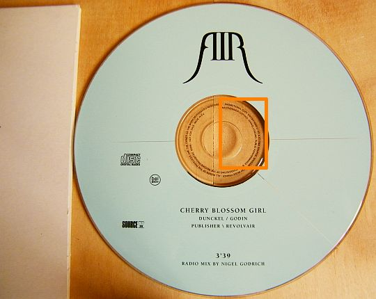 CD single Collector de AIR - Cherry blossom girl version remix radio