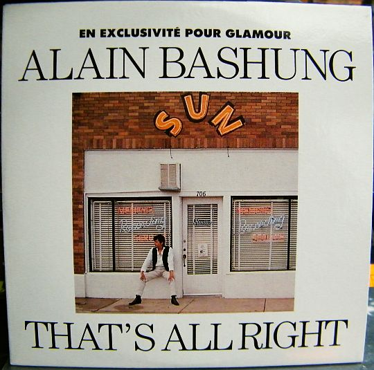 recto du cd sampler promo collector monotitre d'Alain Bashung - That's all right