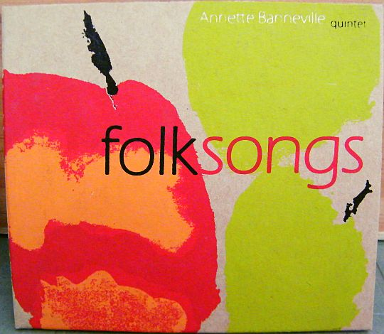 recto du CD hors commerce d'Annette Banneville Quintet - Folksongs