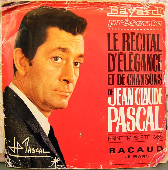 recto du catalogue promotionnel Bayard Racaud avec Jean-Claude Pascal