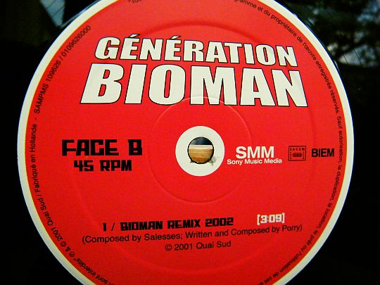 face B du maxi Bioman remix 2002