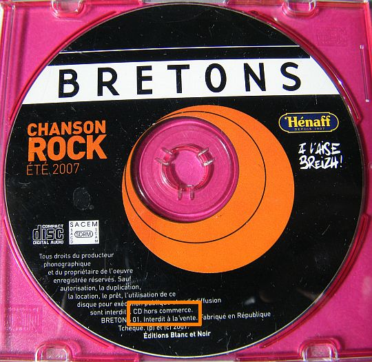 CD collector Bretons n°1 hors commerce tout nu