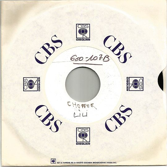 Lili par Chopper sur 45t White Label CBS