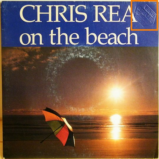 recto du 45t promo Collector de Chris Rea - On the beach