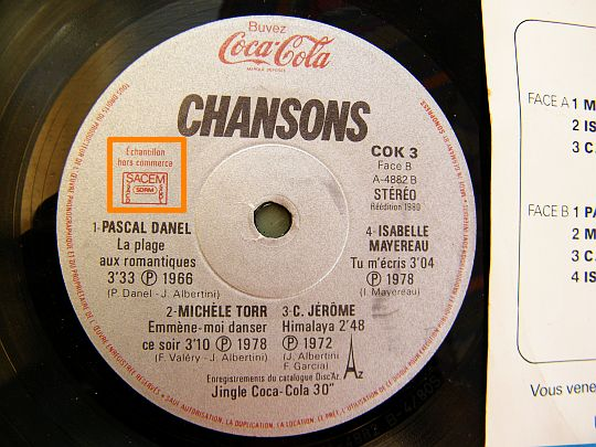 compilation Coca-Cola Collector Chansons, face 2