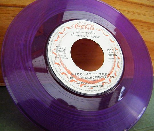 vinyle violet Coca-Cola n°5 Collector de Nicolas Peyrac - Goodbye California