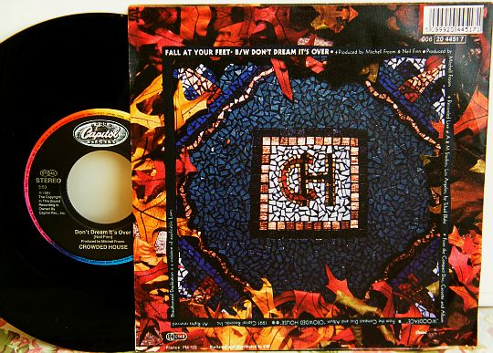 verso du 45 tours promo des Crowded House avec le hit Don't dream it's over