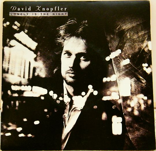 recto du 45 tours Collector promotionnel de David Knopfler - Lonely is the night