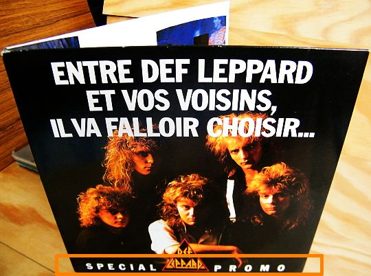 recto du 45 tours gatefold Collector de Def Leppard - Animal spécial promo