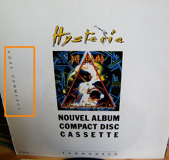 pochette verso hors commerce d'Animal - Def Leppard