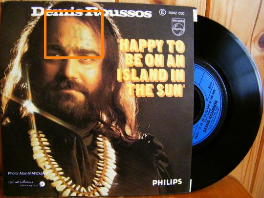 face B du 45t Collector promo de Démis Roussos - Happy to be on an island in the sun