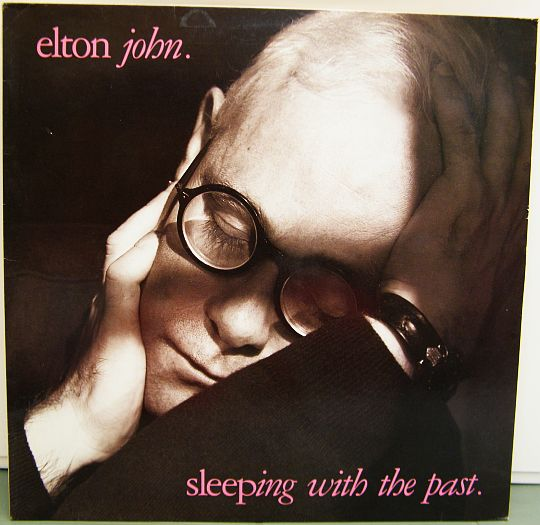 recto du 33 tours promo Collector d'Elton John - Sleeping with the past