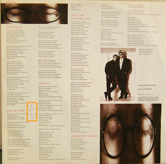 paroles du LP promo d'Elton John face A