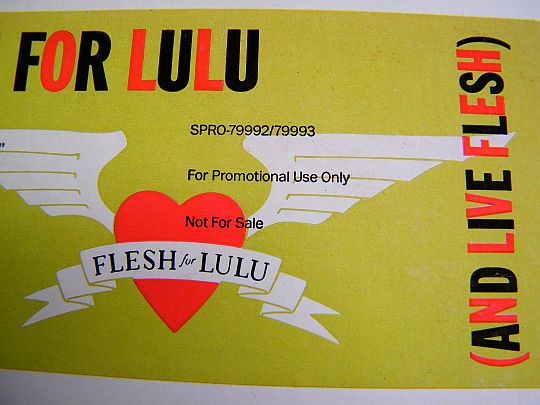 détail du sticker promo de Flesh For Lulu - Final vinyl