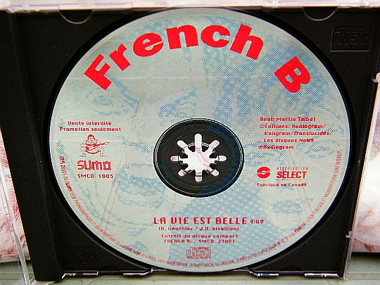 CD collector monotitre promo de French B - La vie est belle