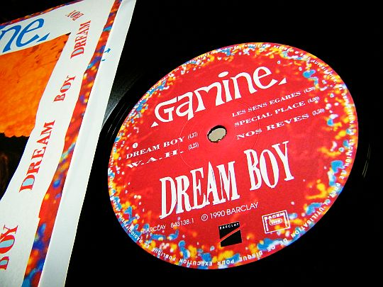 label central du LP promo Collector de GAMINE - Dream boy