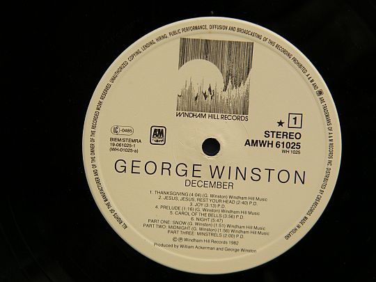 face 1 George Winston - December Collector