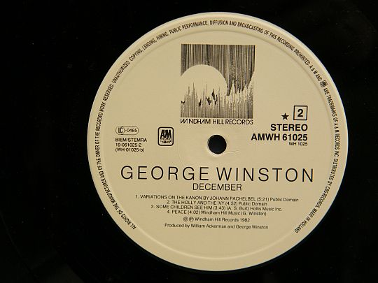 face 2 George Winston - December Collector
