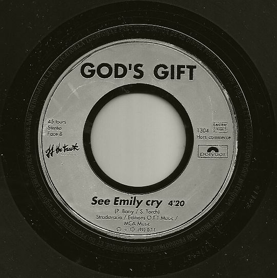 face B et 45t promo des God's Gift - See Emily cry