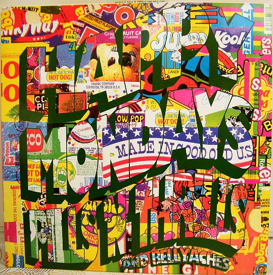 recto du LP promo Collector des Happy Mondays - Pills and thrills and bellyaches