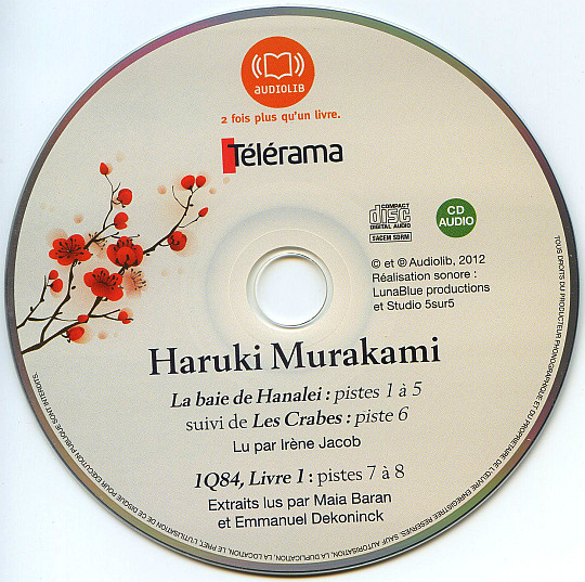 CD Audiolib Collector Télérama d'Haruki Murakami