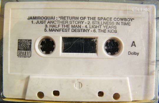 k7 audio collector sampler de Jamiroquai - return of the space cowboy