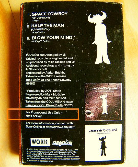 Sampler Audio Collector À Cassette Space Cowboy Jamiroquai UqXtt