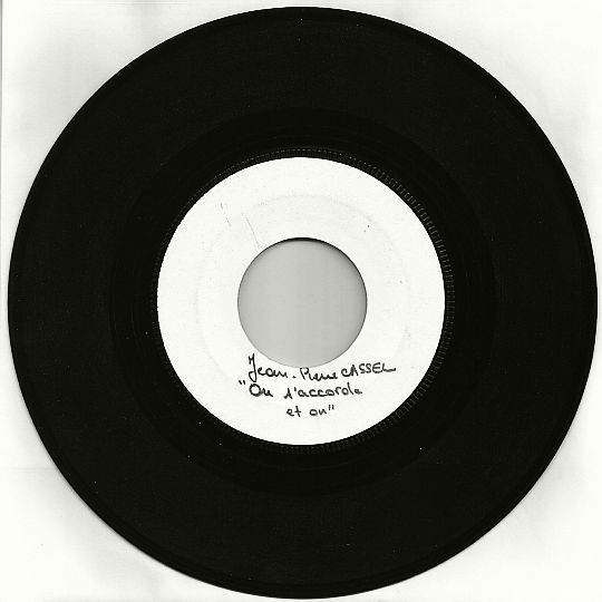 45 tours White Label de Jean-Pierre Cassel - On s'accorde et on Collector