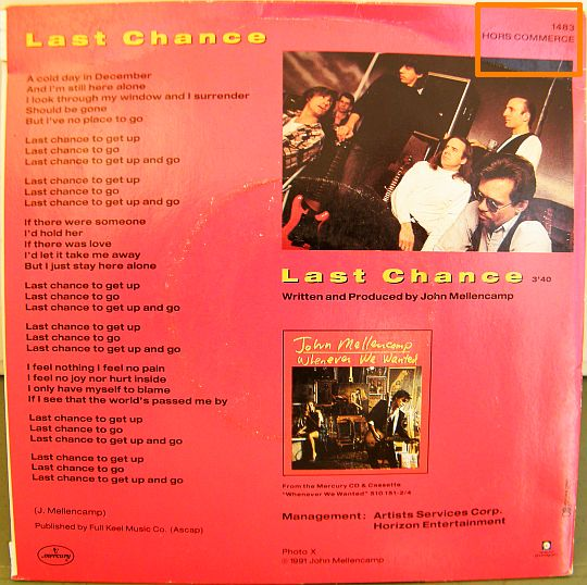 verso Collector Mellencamp - Last chance
