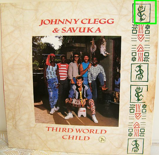 recto du 33 tours Collector de Johnny CLEGG and Savuka - Third world child