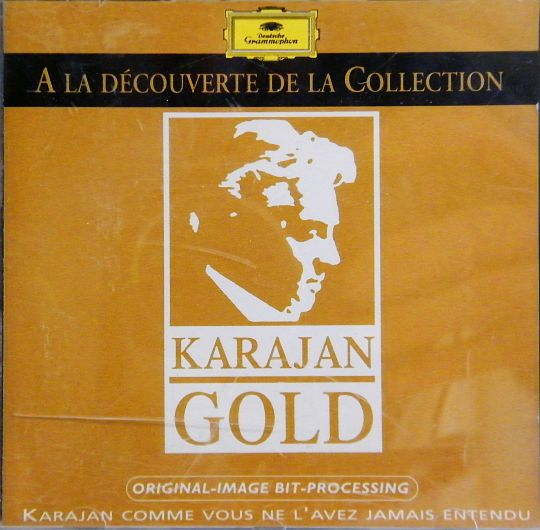 recto du CD sampler collector Karajan - Gold