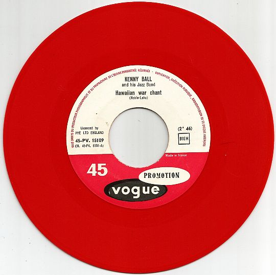 45 tours Collector promo rouge de Kenny Ball - Hawaiian war chant