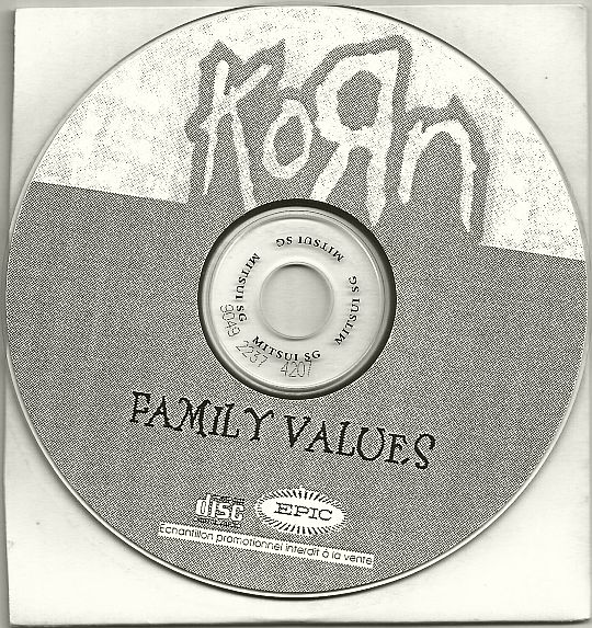 disque compact promo sampler de Korn - Family values