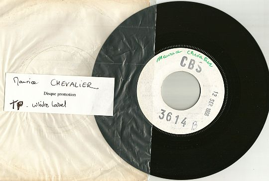 En 1925 par Maurice Chevalier sur SP White Label Test Pressing