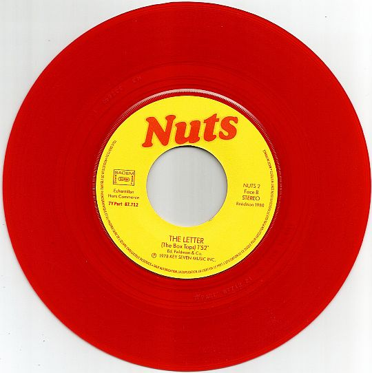 face B du 45 tours rouge Nuts Rock'n'Nuts - The letter