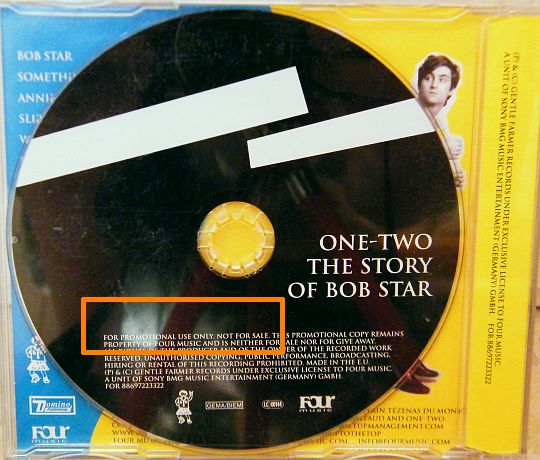 CD promo advance Collector de One-Two - The story of Bob Star