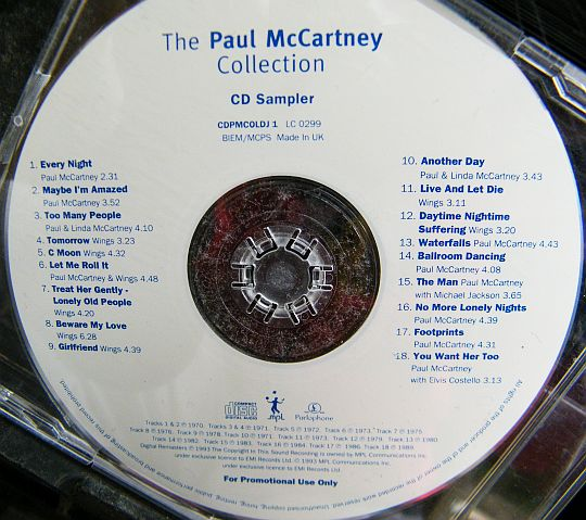 CD sampler promotionnel de Paul MacCartney - Collection