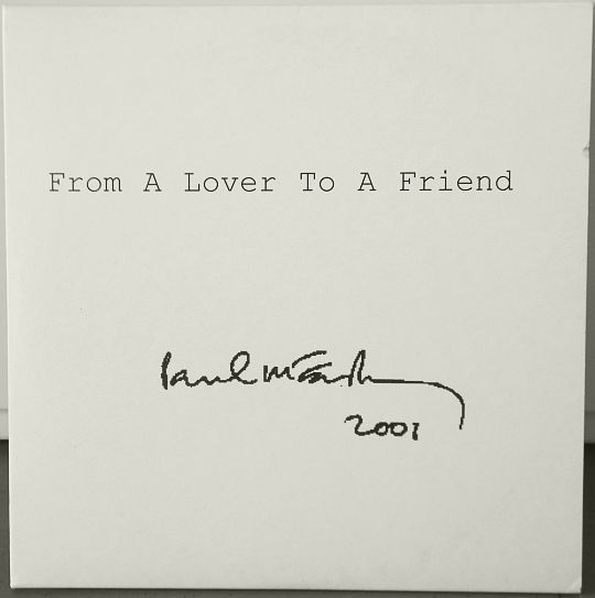 recto du collector monotitre de MacCartney - From a lover to a friend