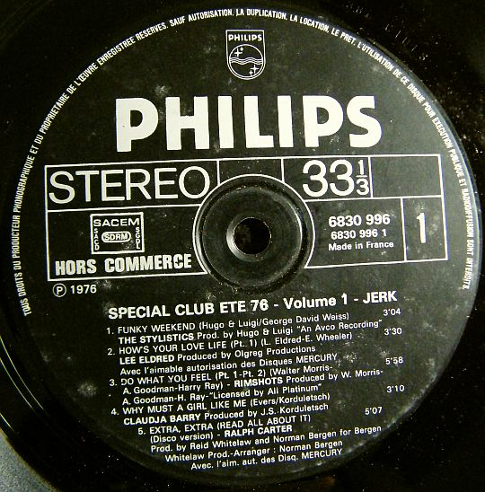 face 1 Philips Spécial Club volume 1 Collector