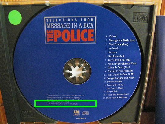 CD collector The Police - Selections from message in a box