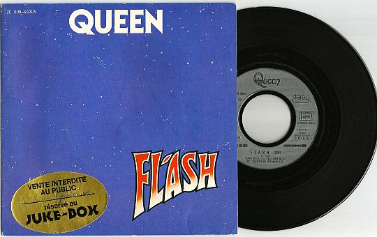 recto et 45 tours réservé au juke-box de Queen - Flash (Gordon)
