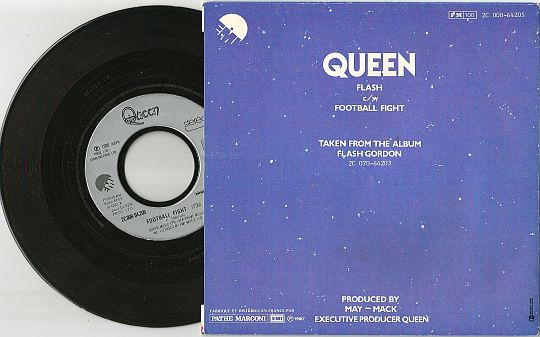 verso du SP Juke-Box de Queen - Football fight
