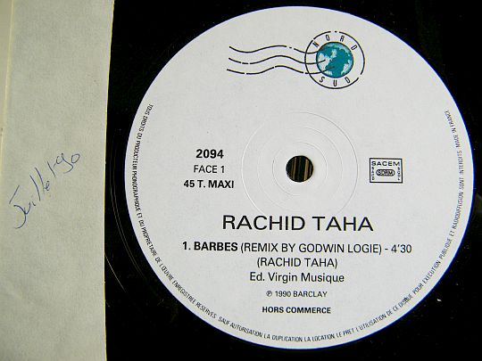 face A du maxi 45 tours promo Collector Barbès de Rachid Taha