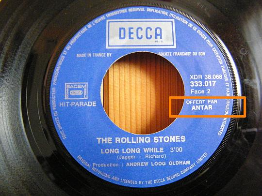 face B du 45 tours Collector des Rolling Stones - Long long while