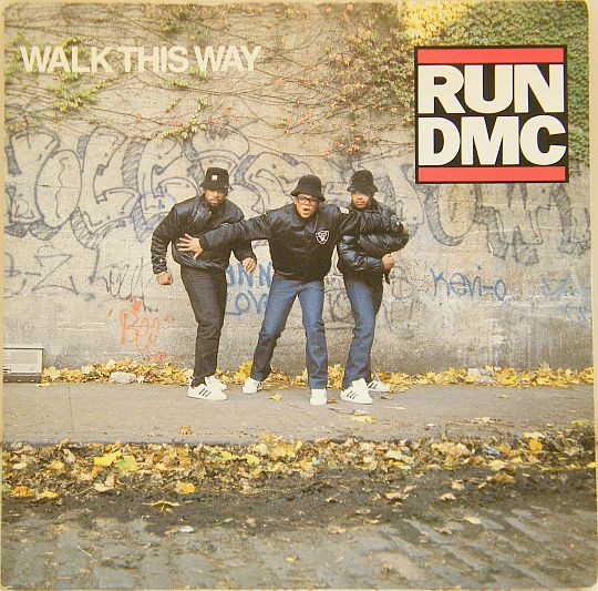 recto du 45 tours Collector promo de RUN DMC - Walk this way dans Poesie-Sonore.com