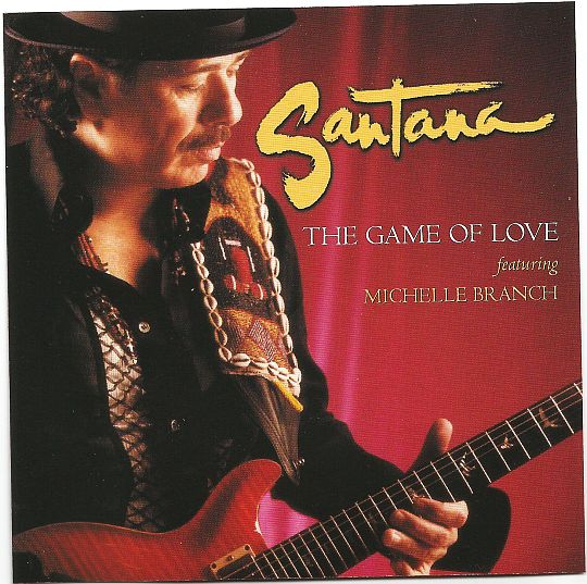recto du CD monotitre promo de Santana - The game of love