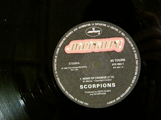 disque Collector face A Scorpions